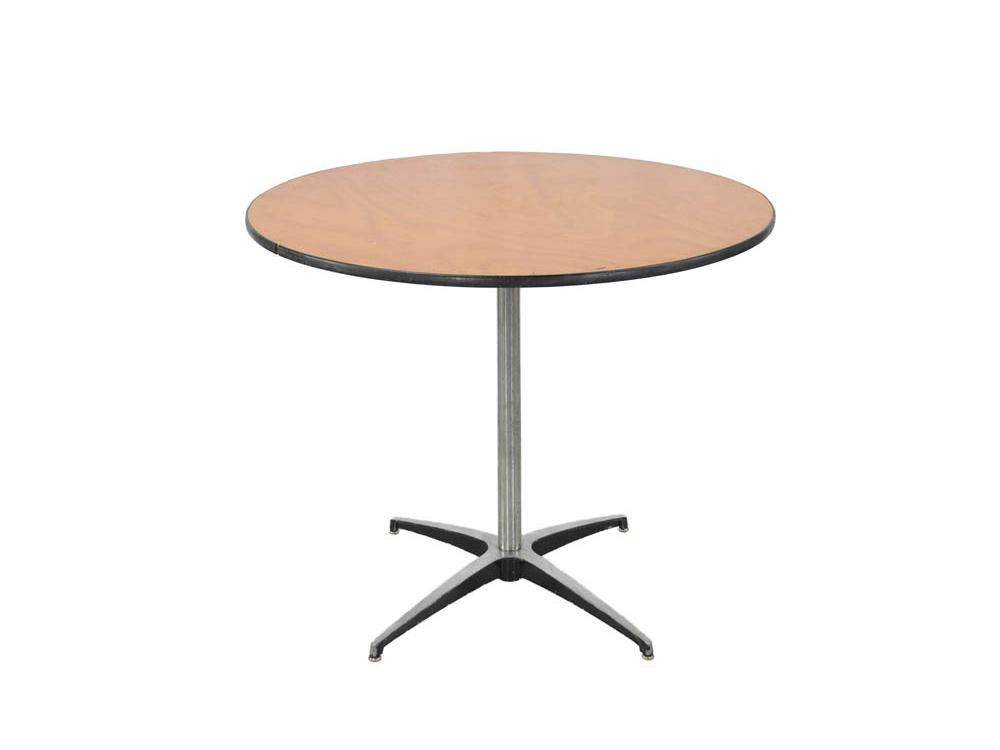 "36"" round table, rent"