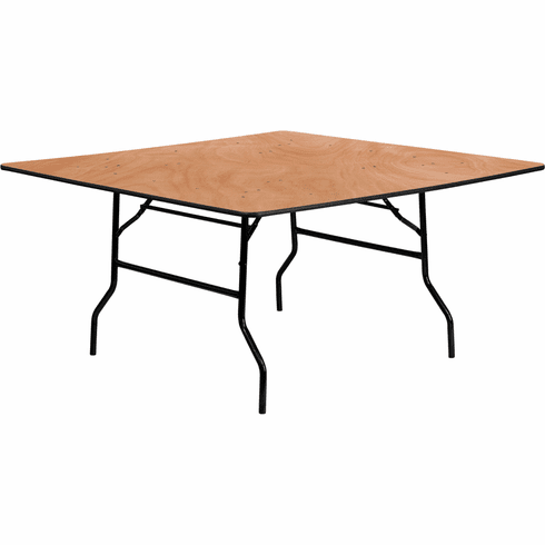 table rental, 60 inch square, wood
