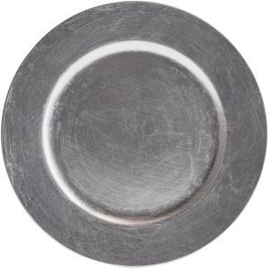Silver charger plate for rent